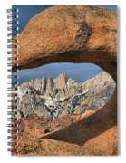 Rugged Peaks Through Mobius Spiral Notebook
