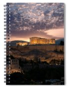 Ruins Of A Temple, Athens, Attica Spiral Notebook