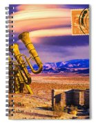 Ruins Of Fort James B. Polka And Prototype Gatling Tubas Spiral Notebook