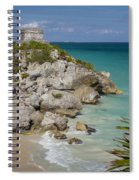 Ruins Of Mayan Temple Spiral Notebook