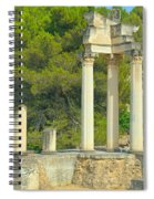 Ruins Of Roman Columns In Glanum  Spiral Notebook