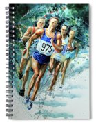 Run For Gold Spiral Notebook