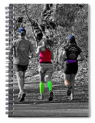 Run In The Park Spiral Notebook