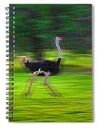 Run Ostrich Spiral Notebook