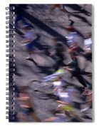 Runners Along Street In A Marathon Blurred And Abstract Spiral Notebook