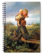 Running Away Form A Thunderstorm Spiral Notebook