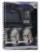 Running On Time Panoramic Spiral Notebook