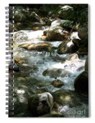 Running Over Rocks Spiral Notebook