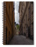Running Up The Lane Spiral Notebook