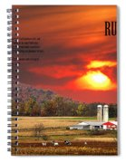 Rural Barns  My Book Cover Spiral Notebook
