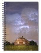 Rural Country Cabin Lightning Storm Spiral Notebook