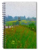 Rural Highway In Oil Paint Spiral Notebook