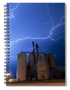 Rural Lightning Storm Spiral Notebook