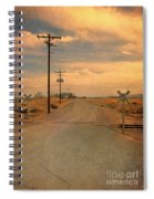 Rural Railroad Crossing Spiral Notebook