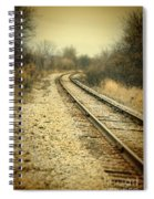 Rural Railroad Tracks Spiral Notebook