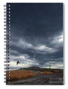 Rural Road In Lightning Storm Spiral Notebook