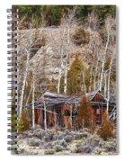 Rural Rustic Rundown Rocky Mountain Cabin Spiral Notebook
