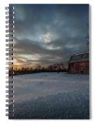 Rural Sunset Spiral Notebook
