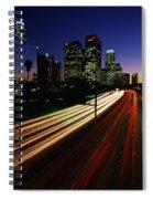 Rush Hour Harbor Freeway Los Angeles Ca Spiral Notebook