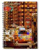 Rush Hour - Traffic In New York Spiral Notebook