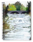 Rushing Water - Quiet Thoughts Spiral Notebook