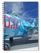 Russian Aircraft Mig At Interpid Museum Spiral Notebook