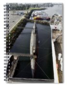 Russian Submarine Top View Spiral Notebook
