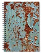 Rust And Paint Spiral Notebook