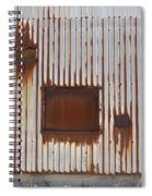 Rust And Window 3 Spiral Notebook