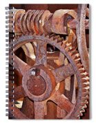Rust Gears And Wheels Spiral Notebook