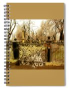 Rusted Cemetery Gate Spiral Notebook