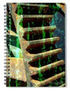 Rusted Gears Abstract Spiral Notebook