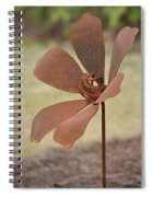 Rusted Iron Flower Spiral Notebook