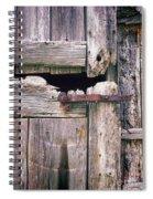 Rustic Barn Door Spiral Notebook