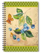 Rustic Blueberries On Moroccan Spiral Notebook