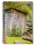 Rustic Fence And Outhouse Spiral Notebook