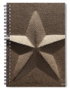 Rustic Five Point Star Spiral Notebook