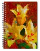 Rustic Lilies 2 Spiral Notebook