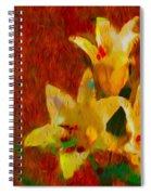Rustic Lilies Spiral Notebook