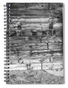 Rustic Old Colorado Barn Door And Window Bw Spiral Notebook