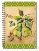 Rustic Pears On Moroccan Spiral Notebook