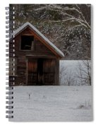 Rustic Shack After The Storm Spiral Notebook