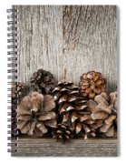 Rustic Wood With Pine Cones Spiral Notebook