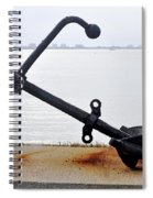 Rusty Black Boat Anchor By Sarasota Harbor Usa Spiral Notebook