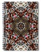 Rusty Chain Link Kaleido Spiral Notebook