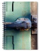 Rusty Door Latch Spiral Notebook