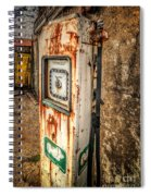 Rusty Gas Pump Spiral Notebook