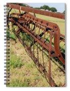 Rusty Hay Rake Spiral Notebook