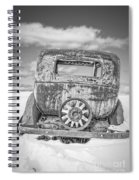 Rusty Old Car In The Snow Spiral Notebook