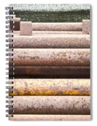 Rusty Pipes Spiral Notebook
